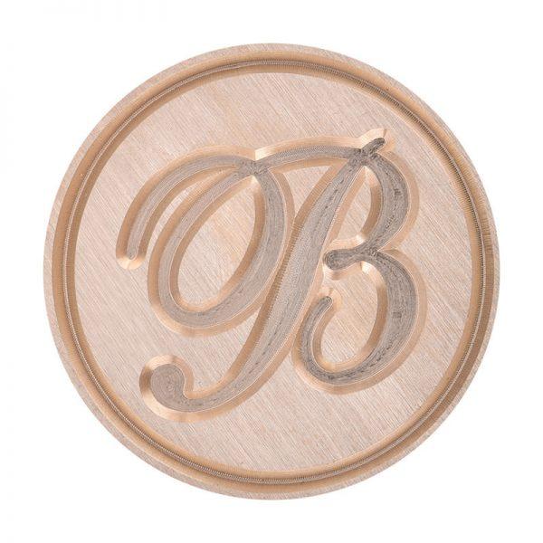 b letter stempel